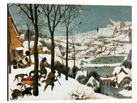 Aluminium print  Hunters in the snow - Pieter Brueghel d.Ä.