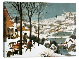 Canvas  Hunters in the snow - Pieter Brueghel d.Ä.