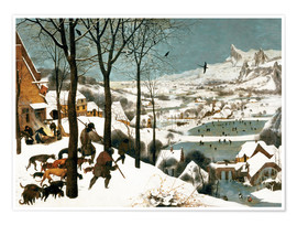 Poster  Hunters in the snow - Pieter Brueghel d.Ä.