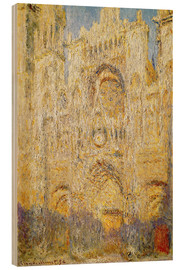 Wood print  Rouen Cathedral, at noon - Claude Monet