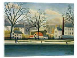 Acrylic print  Suburb on the banks of the Marne - Henri Rousseau