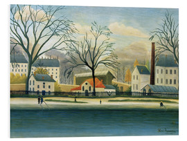 Foam board print  Suburb on the banks of the Marne - Henri Rousseau