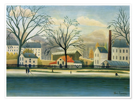 Premium poster  Suburb on the banks of the Marne - Henri Rousseau