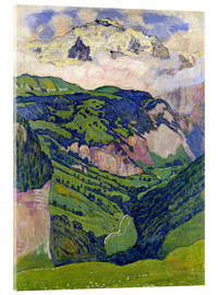 Acrylic print  Jungfrau mountain, seen from Isenfluh - Ferdinand Hodler