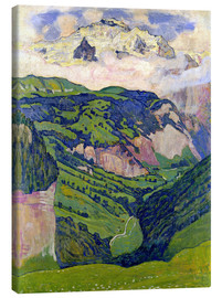 Canvas print  Jungfrau mountain, seen from Isenfluh - Ferdinand Hodler
