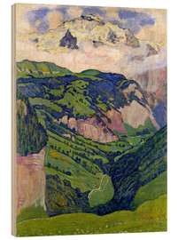 Wood print  Jungfrau mountain, seen from Isenfluh - Ferdinand Hodler