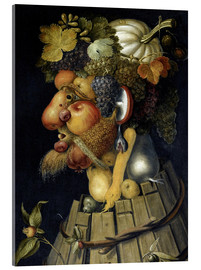 Acrylic glass  The Autumn - Giuseppe Arcimboldo