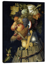 Canvas  The Autumn - Giuseppe Arcimboldo