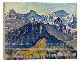 Wood print  Eiger, monk and virgin in the sun - Ferdinand Hodler