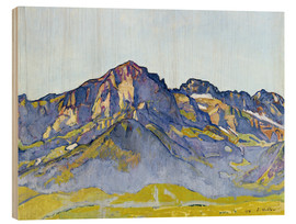 Wood print  Dents Blanches near Champéry - Ferdinand Hodler