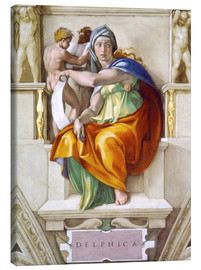 Canvas  Sistine chapel: The Delphic Sybille - Michelangelo