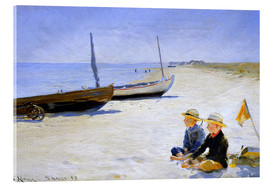 Acrylic print  Two boys sitting in the sunshine on skagen beach - Peder Severin Krøyer