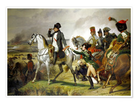 Premium poster  Napoleon Bonaparte, Battle of Wagram 06 July 1809th - Emile Jean Horace Vernet