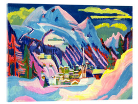 Acrylic print  Davos in winter - Ernst Ludwig Kirchner