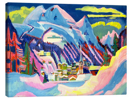 Canvas print  Davos in winter - Ernst Ludwig Kirchner