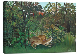Canvas print  The hungry lion - Henri Rousseau