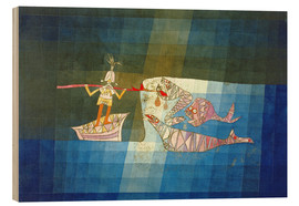 Wood print  Sinbad the Sailor - Paul Klee