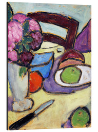 Aluminium print  Still Life with a chair and a vase - Alexej von Jawlensky