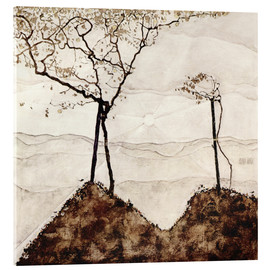 Egon Schiele - Autumn sun and trees