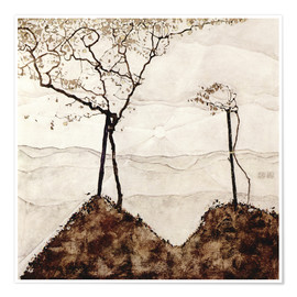 Premium poster  Autumn sun and trees - Egon Schiele