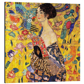 Aluminium print  Lady with a Fan - Gustav Klimt