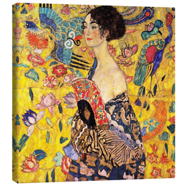 Canvas print  Lady with a fan - Gustav Klimt