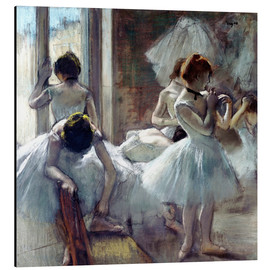 Aluminium print  Group of dancers - Edgar Degas