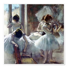 Premium poster  Group of dancers - Edgar Degas