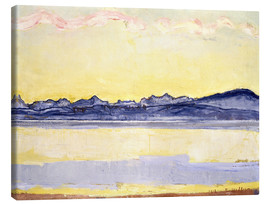 Canvas print  Mont Blanc with red clouds - Ferdinand Hodler