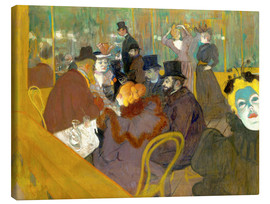 Canvas print  At the cabaret - Henri de Toulouse-Lautrec
