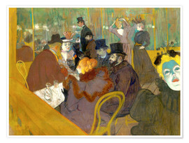 Premium poster  At the cabaret - Henri de Toulouse-Lautrec