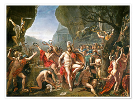 Premium poster  Leonidas on the Thermopylae - Jacques-Louis David