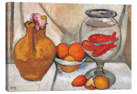 Canvas print  Still life with fishbowl - Paula Modersohn-Becker