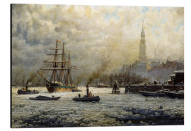 Aluminium print  The Port of Hamburg, 1893 - Georg Schmitz