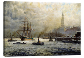 Canvas print  The Port of Hamburg, 1893 - Georg Schmitz