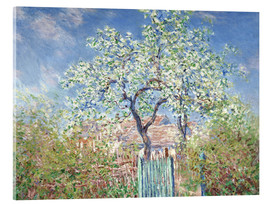 Acrylic glass  The gates in Vetheuil - Claude Monet
