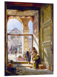 Foam board print  The gate of the great Umayyad Mosque in Damascus - Gustave Bauernfeind