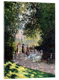 Acrylic print  In the Park Monceau - Claude Monet