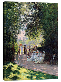 Canvas print  In the Park Monceau - Claude Monet