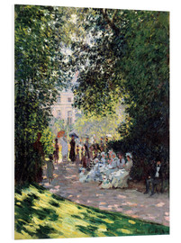 Foam board print  In the Park Monceau - Claude Monet