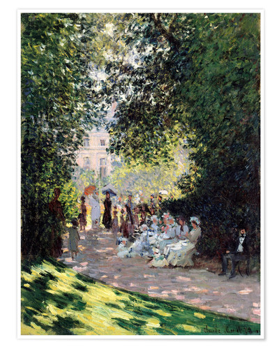 Premium poster In the Park Monceau