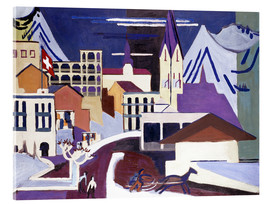 Acrylic print  Davos - Square at the station - Ernst Ludwig Kirchner