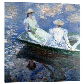Acrylic print  girls in a boat - Claude Monet