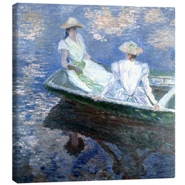 Canvas print  girls in a boat - Claude Monet