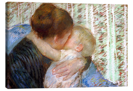 Canvas print  The Goodnight Kiss - Mary Stevenson Cassatt