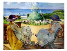 Acrylic glass  Two women on a terrace by the sea - Henri Lebasque