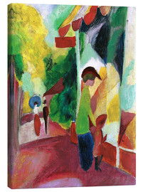Canvas print  Shop window with yellow trees - August Macke