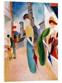 Acrylic print  In front of hat shop - August Macke