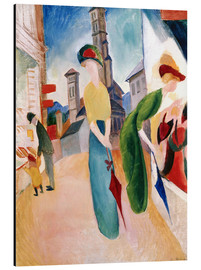 Aluminium print  In front of hat shop - August Macke