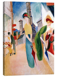 Canvas print  In front of hat shop - August Macke